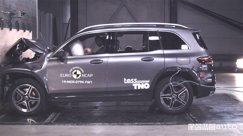 Mercedes GLB Crash Test 2019 urto frontale