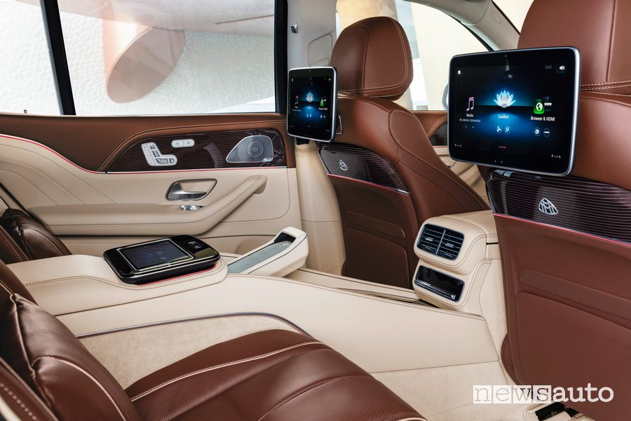 Interni, tablet sedili posteriori Mercedes-Maybach GLS 600 4MATIC