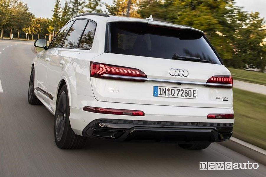Scarico, paraurti posteriore Audi Q7 TFSI e quattro SUV plug-in