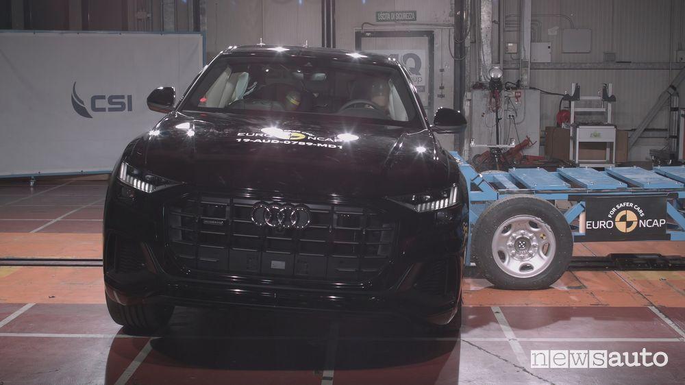 Urto laterale crash test Euro NCAP Audi Q8