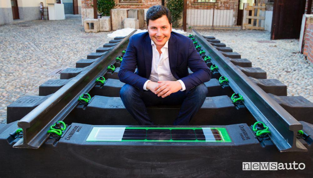 Giovanni De Lisi. fondatore della start-up Greenrail