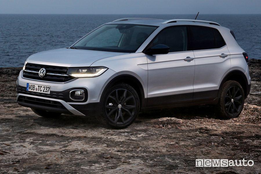 Vista di profilo Volkswagen T-Cross