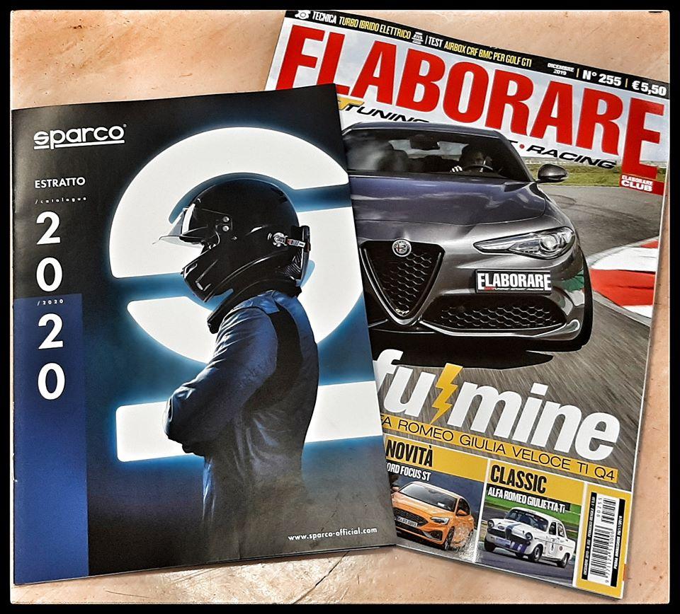 Estratto catalogo Sparco allegato al magazine ELABORARE