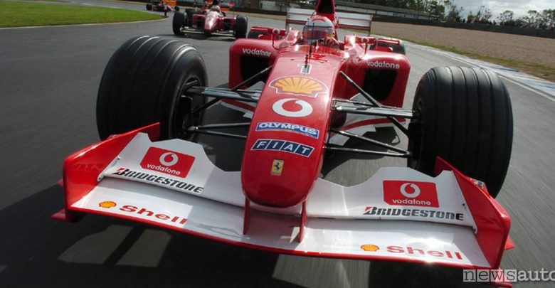 Ferrari F2002 Schumacher asta gp abu dhabi