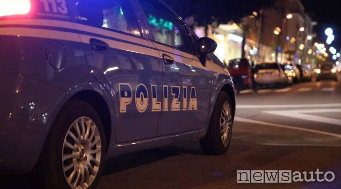 polizia Torino Fiat Panda elaborata