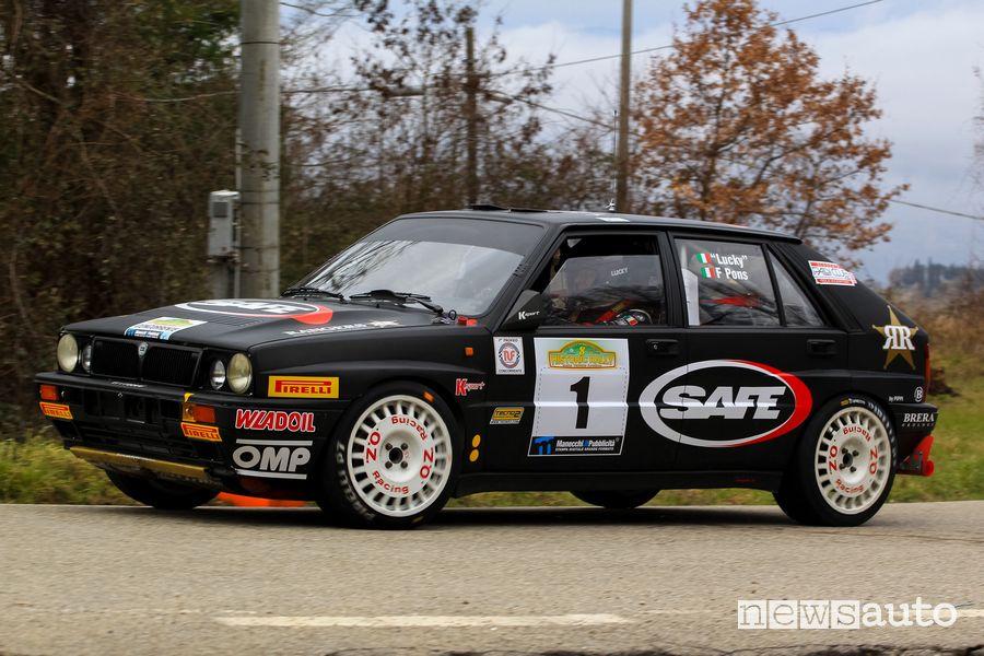 """Lucky""""-Luigi Cazzaro su Lancia Delta al Monza Rally Show 2019"""