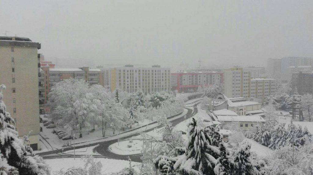 Una abbondante nevicata a Potenza