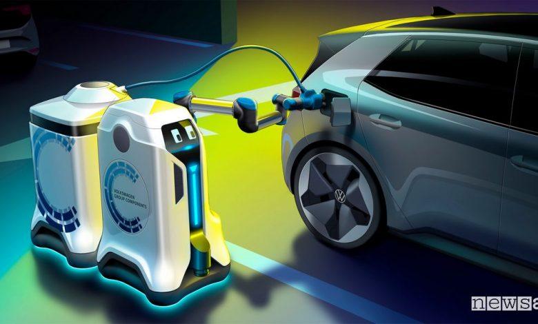 robot ricarica mobile auto elettriche Volkswagen