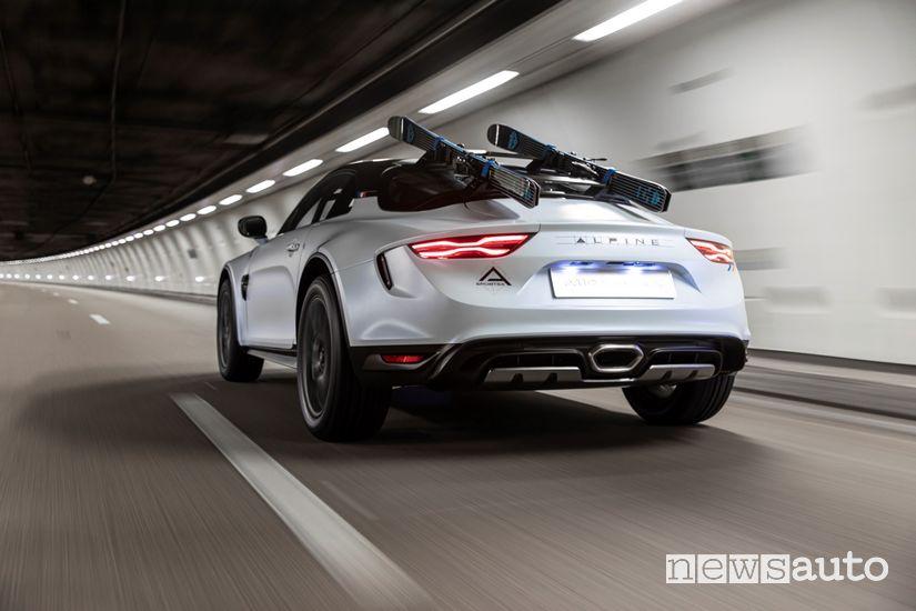 Vista posteriore Alpine A110 SportsX
