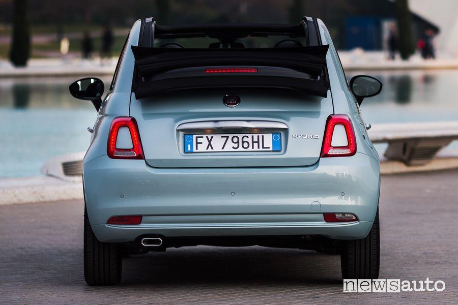 Paraurti posteriore Fiat 500 cabrio Hybrid Launch Edition