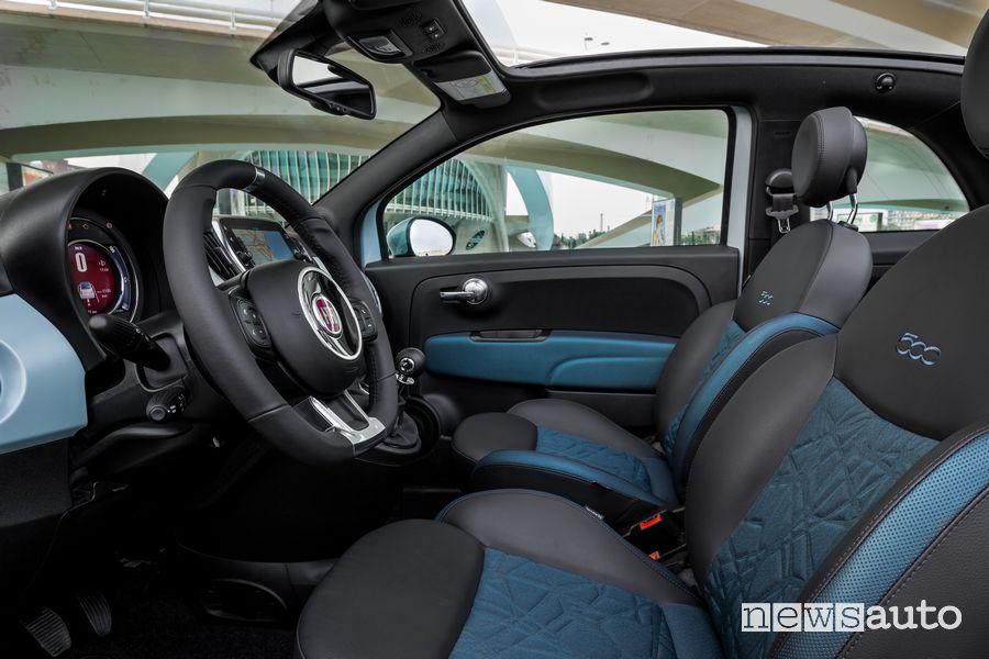 Interni, sedili anteriori Fiat 500 Hybrid Launch Edition