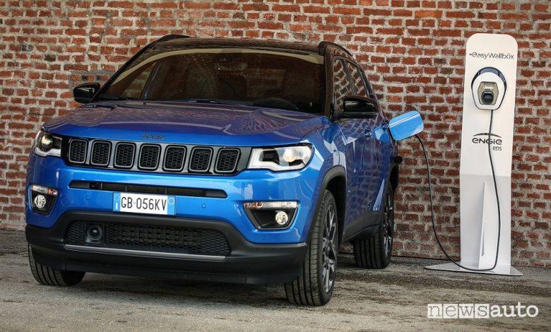 Jeep Compass 4xe, ibrida plug-in, caratteristiche e prezzo