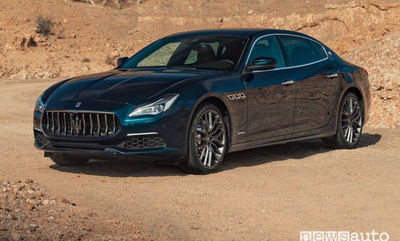 Vista di profilo Maserati Quattroporte Royale