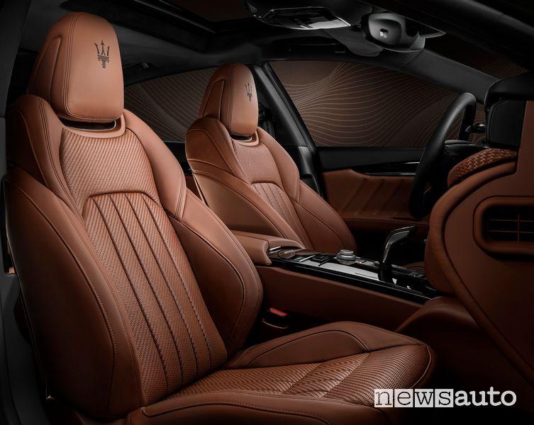 Sedili anteriori in Pelletessuta Zegna Maserati Quattroporte Royale