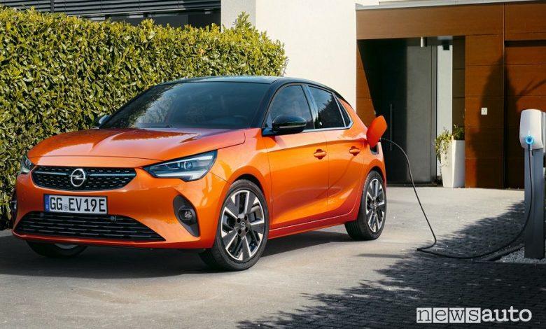 Opel Corsa, elettrica, benzina, diesel