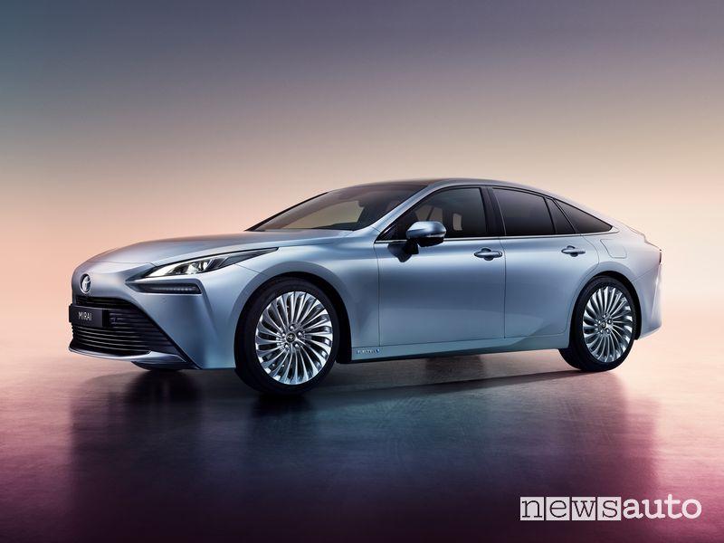Vista di profilo Toyota Mirai 2020
