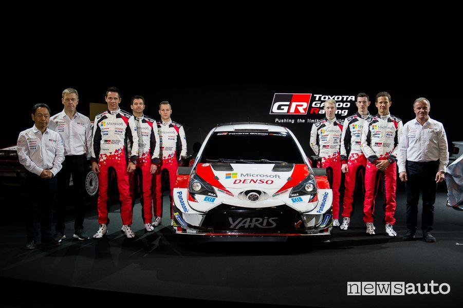 team Toyota WRC 2020 con Sebastien Ogier