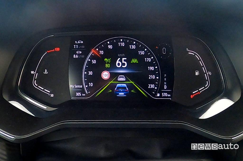 Cruise control adattivo Renault Clio 2020