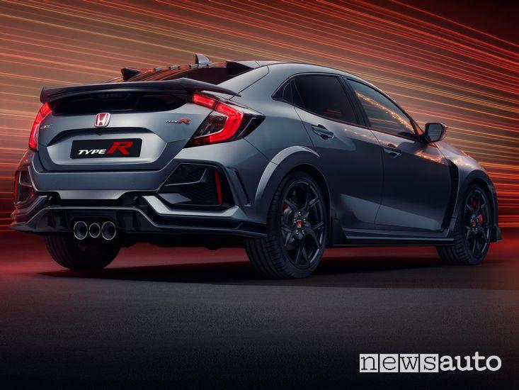 Vista posteriore Honda Civic Type R Sport Line