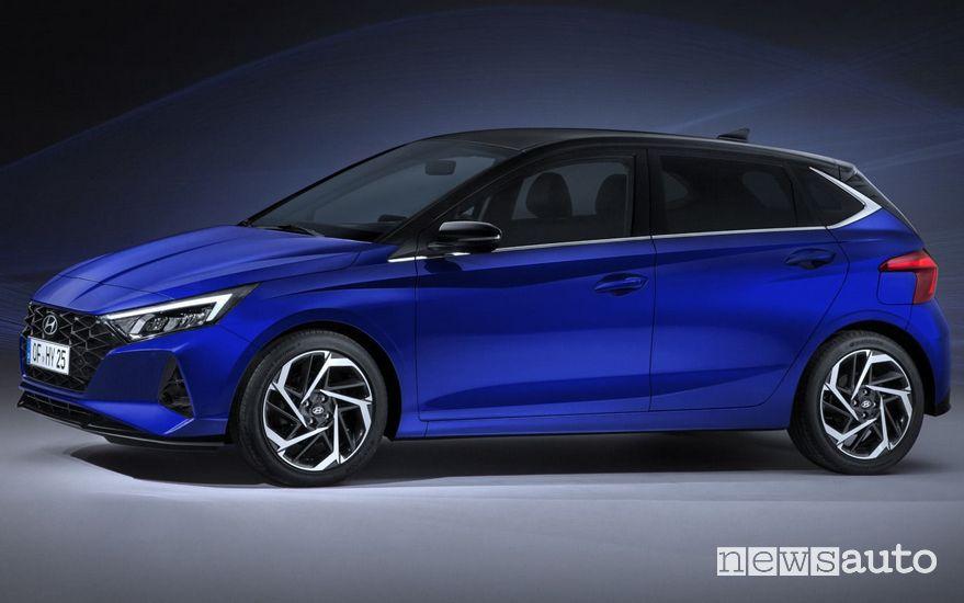 Vista di profilo Hyundai i20 2020