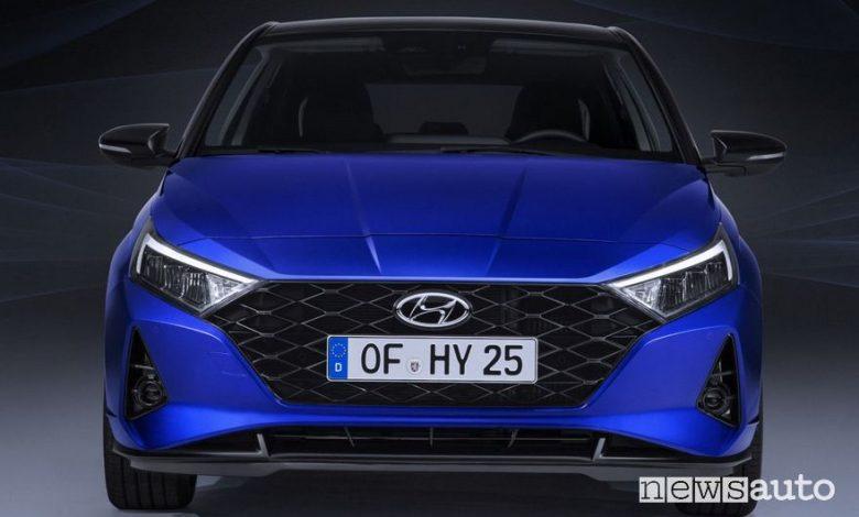 Frontale, fari anteriori a led Hyundai i20 2020