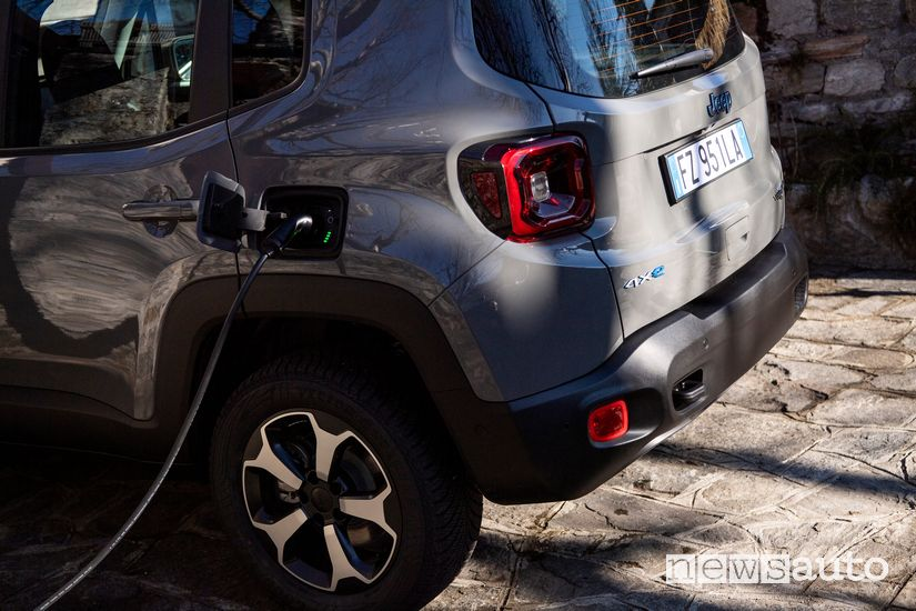 Ricarica dall'easy wallbox ENGIE Eps per la Jeep Renegade PHEV