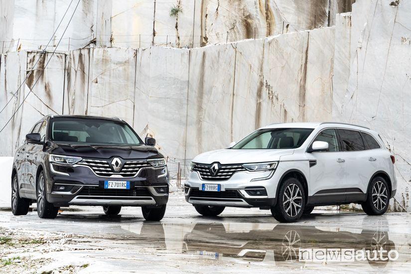 Renault Koleos nella cava di Marmo di Carrara