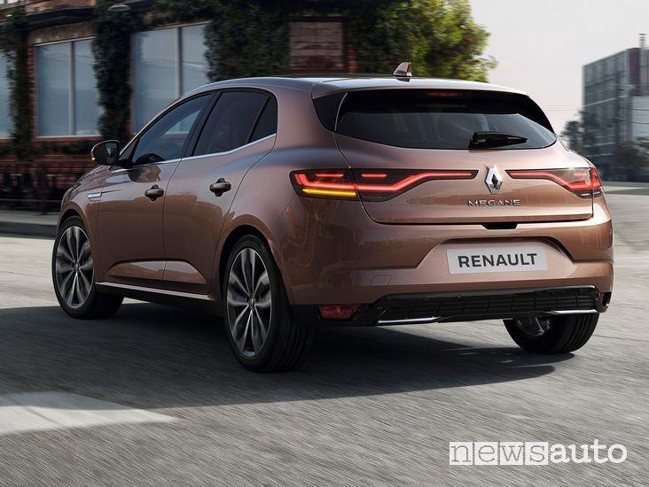 Vista posteriore, frecce dinamiche a led Renault Megane 2020