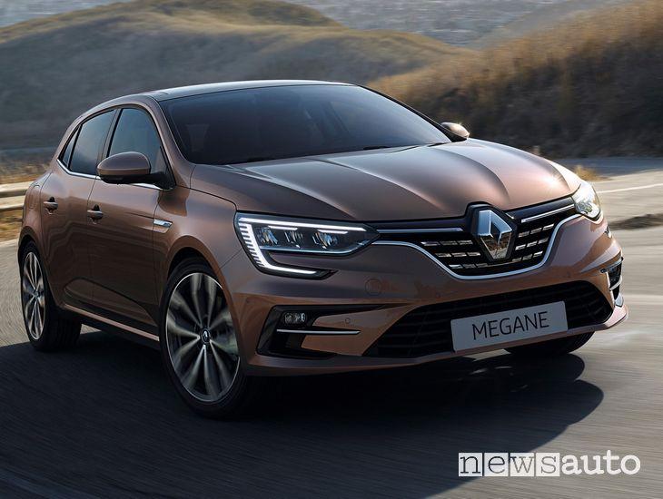 Vista anteriore Renault Megane 2020