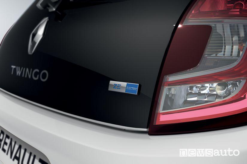 Badge Z.E. Electric cofano posteriore Renault Twingo Z.E.