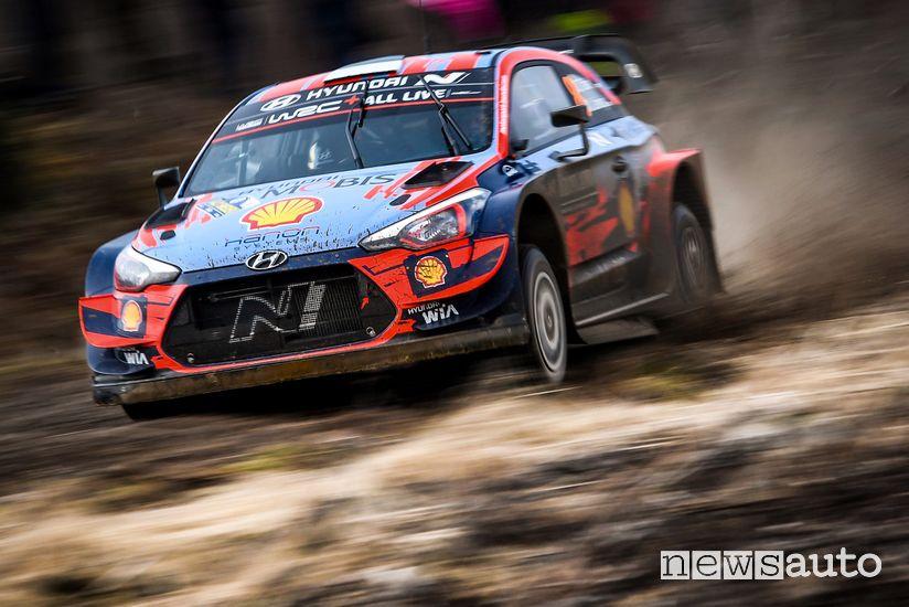 Tanak Hyundai wrc Rally di Svezia 2020