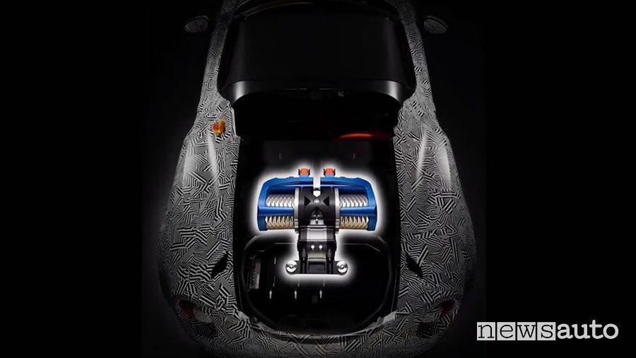 motore elettrico Yamaha Alfa Romeo 4C elettrica EV