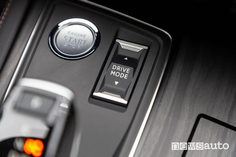 Selettore modalità di guida sulla Peugeot 3008 Hybrid4 PHEV