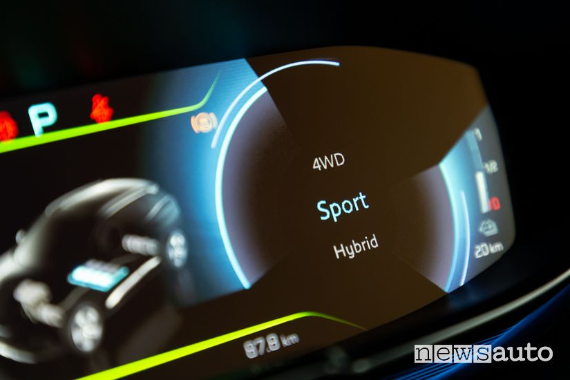 Schermata modalità di guida Sport