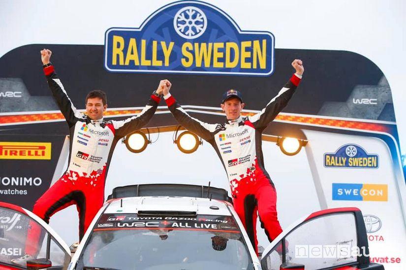Elfyn Evans festa podio vittoria wcc Rally di Svezia 2020
