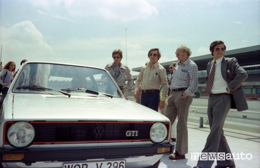 progettisti che hanno lavorato alla prima Volkswagen Golf GTI nel 1976