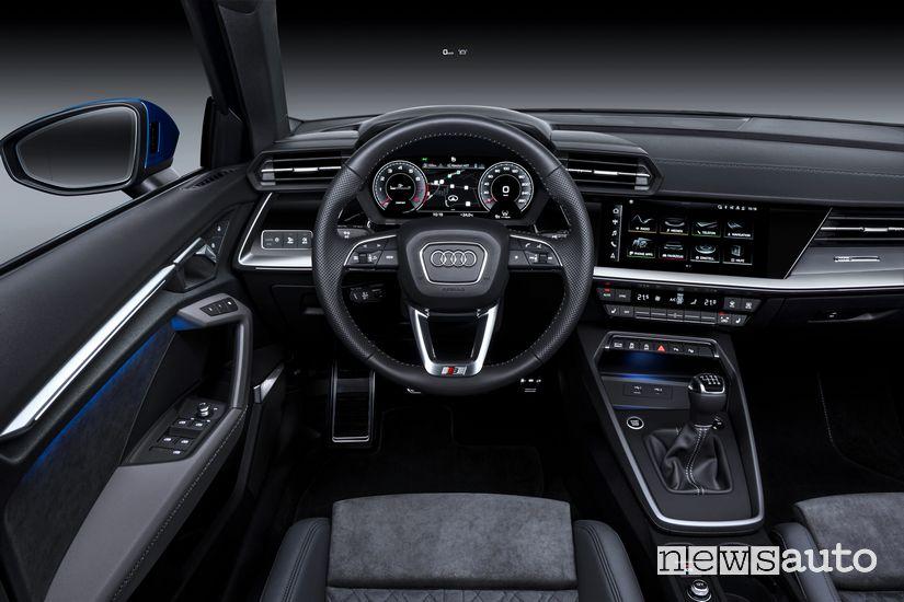 Volante, interni Audi A3 Sportback 2020