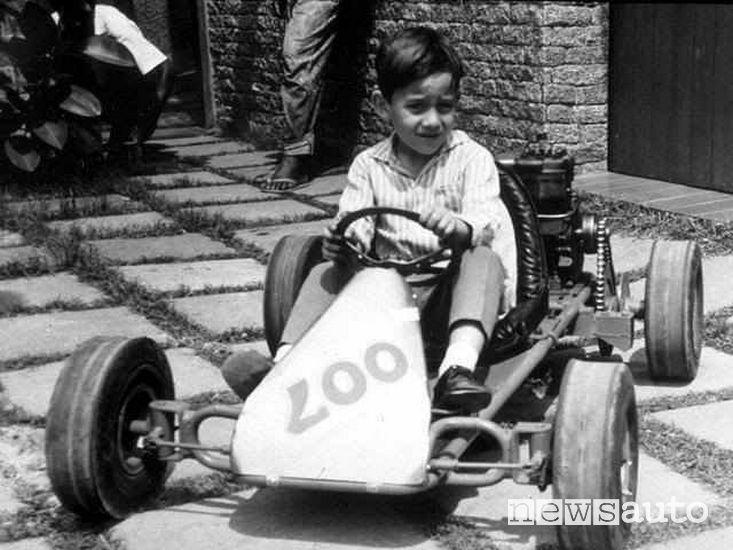 Ayrton Senna bambino sul kart