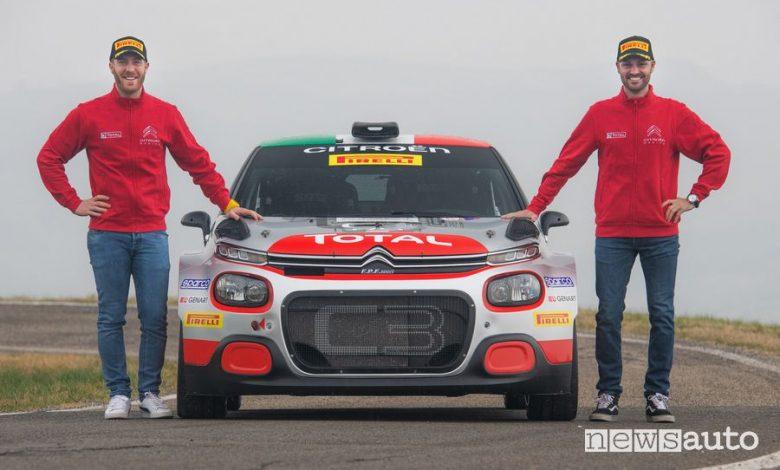 Pietro Ometto (a sx) e Andrea Crugnola (a dx) equipaggio Citroën nel CIR 2020