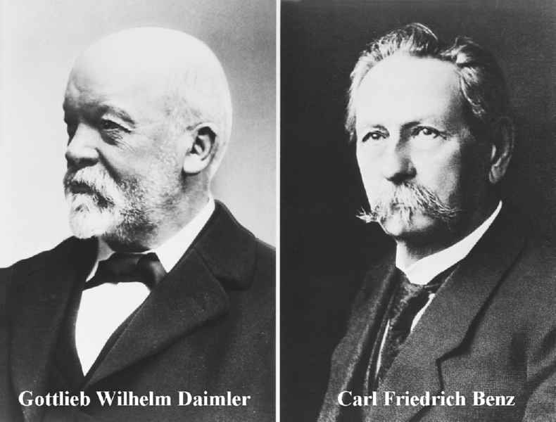 L'ing. Gottlieb Daimler con Carl Benz