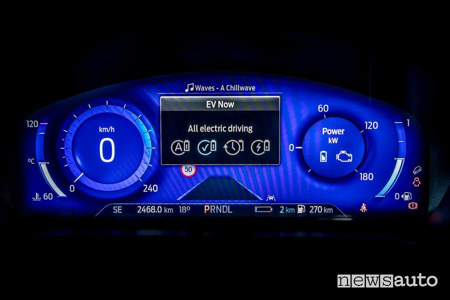 Quadro strumenti Ford Kuga Vignale Plug-In Hybrid