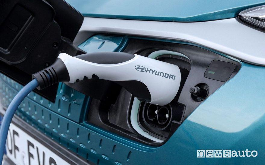 Hyundai Kona Electric 2020 ricarica