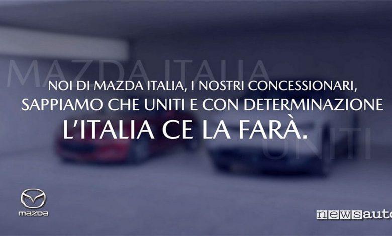 Mazda Motor Italia messaggio speranza Coronavirus