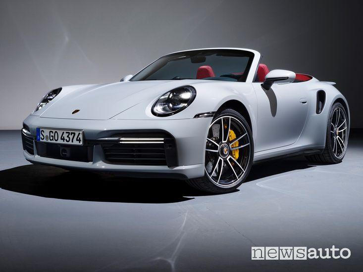 Vista di profilo Porsche 911 Turbo S Cabriolet