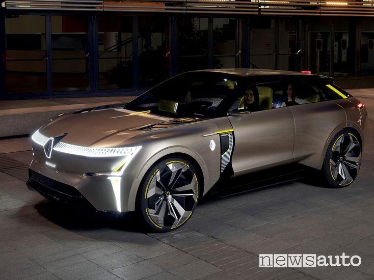 Vista di profilo Renault Morphoz concept-car Travel