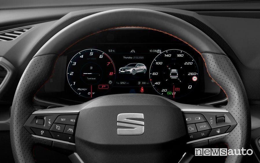 """Seat Virtual Cockpit cruscotto digitale 10,25"""" Seat Leon 2020"""