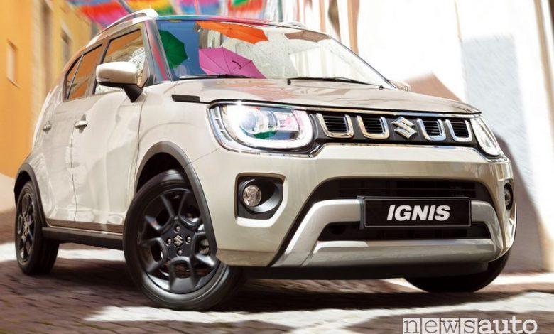 Vista anteriore Suzuki Ignis Hybrid 2020