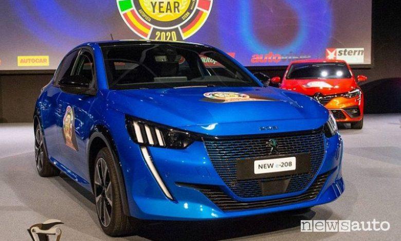 Peugeot e-208 elettrica Auto dell'Anno 2020