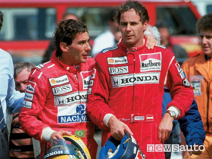 Ayrton Senna e Gerhard Berger alla McLaren