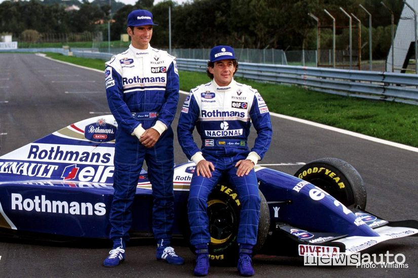 Ayrton Senna e Damon Hill alla Williams